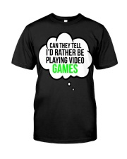 Funny Video Games Gift T-shirt Classic T-Shirt front