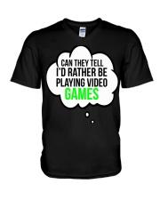 Funny Video Games Gift T-shirt V-Neck T-Shirt thumbnail