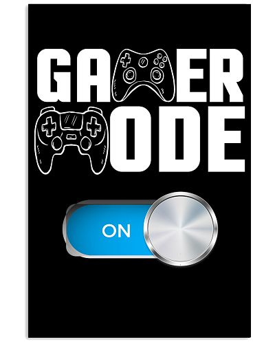 Gamer Mode on Cool Video Game Poster