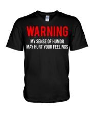 Warning Sense Of Humor Joke T-shirt  V-Neck T-Shirt thumbnail