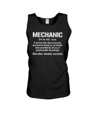 Mechanic Definition Noun Funny Mechanic T-shirt Unisex Tank thumbnail