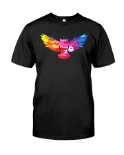 Cool Owl Abstract Art Colorful Paints Gift T-shirt Classic T-Shirt thumbnail