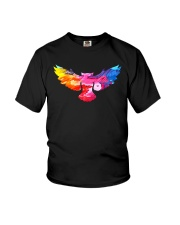Cool Owl Abstract Art Colorful Paints Gift T-shirt Youth T-Shirt thumbnail