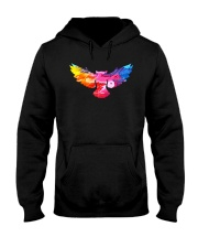 Cool Owl Abstract Art Colorful Paints Gift T-shirt Hooded Sweatshirt thumbnail