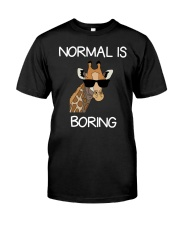 Normal Is Boring Giraffe Funny Cool Gift T-shirt Classic T-Shirt front