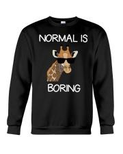Normal Is Boring Giraffe Funny Cool Gift T-shirt Crewneck Sweatshirt thumbnail