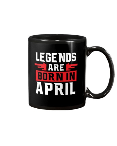 Cool Legends are born in April T-shirt