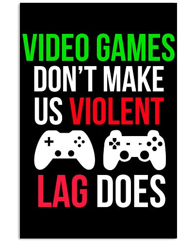 Lag does Funny Cool Video Game Poster