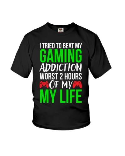 Gaming Addiction Funny Gamer T-shirt