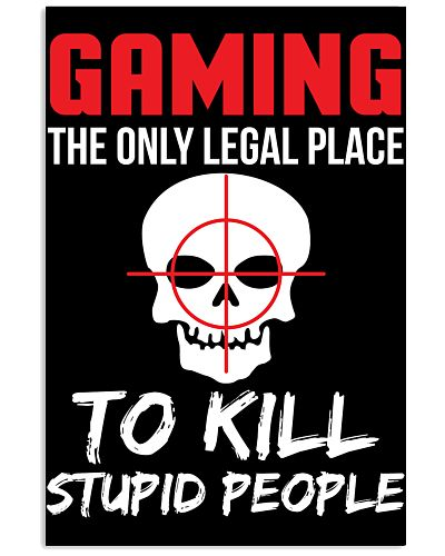 Funny Sarcastic Video Gaming Poster