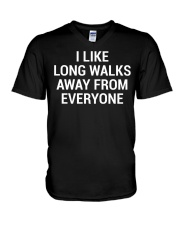 Funny Sarcastic Introvert Quote T-Shirt V-Neck T-Shirt thumbnail