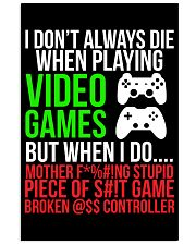 Funny Hilarious Video Gamer Poster 16x24 Poster front