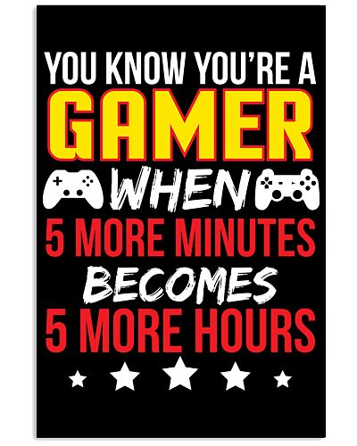 Funny Video Gamer Gaming Poster