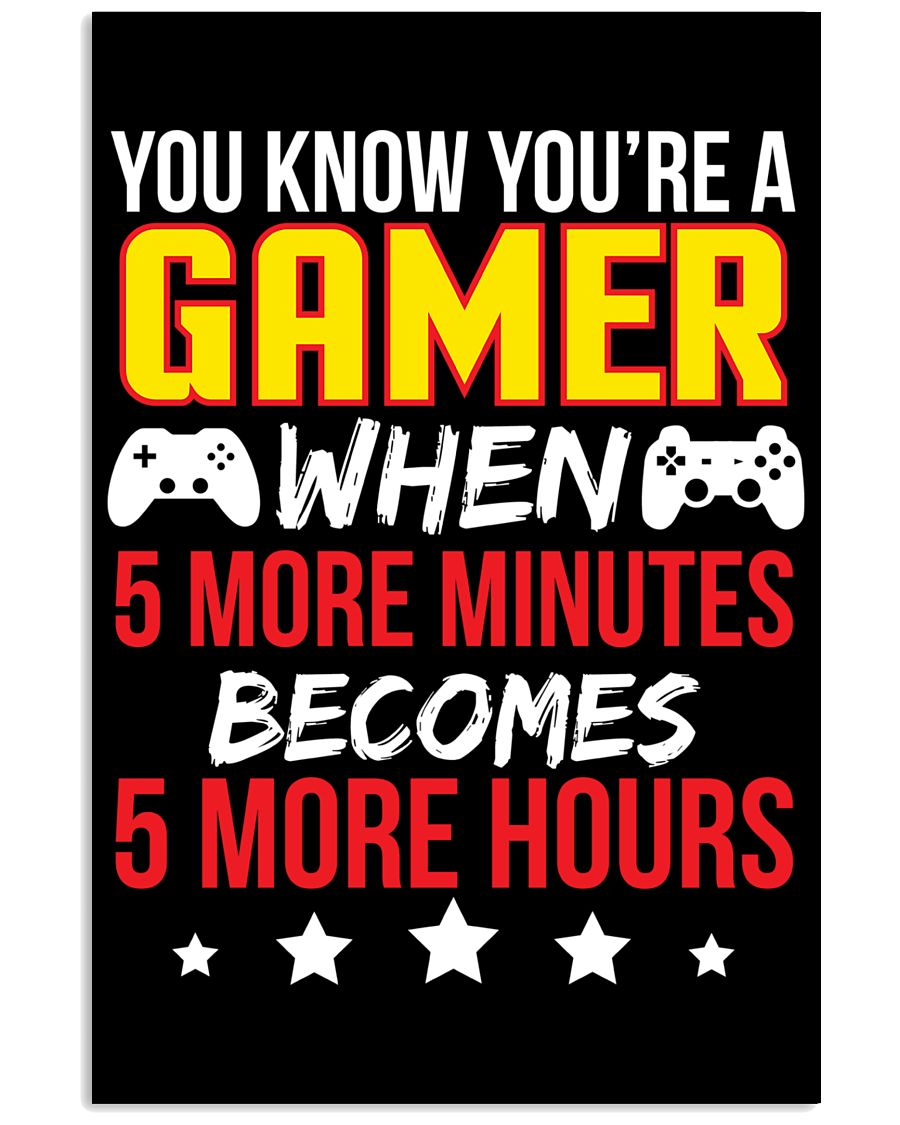 Funny Video Gamer Gaming Poster 16x24 Poster