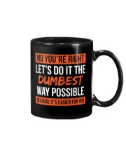 Dumbest Way Funny Sarcastic Joke T-shirt Mug thumbnail