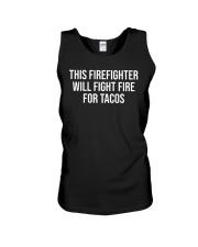 Funny Firefighter Taco Lover Fireman Gift T-shirt Unisex Tank thumbnail