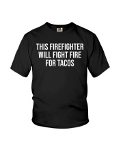Funny Firefighter Taco Lover Fireman Gift T-shirt Youth T-Shirt thumbnail