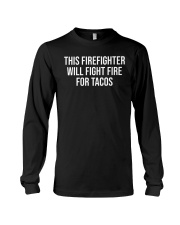Funny Firefighter Taco Lover Fireman Gift T-shirt Long Sleeve Tee thumbnail