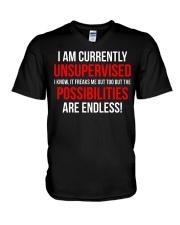 Funny Unsupervised Teenager T-shirt  V-Neck T-Shirt thumbnail