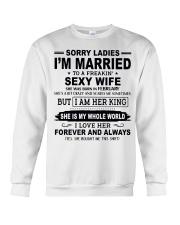Wife  February Crewneck Sweatshirt thumbnail