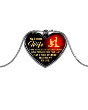 To my Future Wife Metallic Heart Necklace front