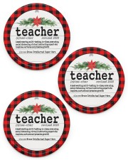 Teacher Christmas - Ornament Circle ornament - 3 pieces (porcelain) front