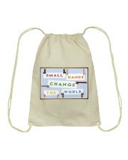 Small Hands Change The World 2 Drawstring Bag thumbnail