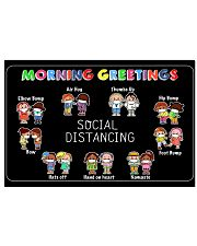 Morning Greeting in Social Distancing 17x11 Poster front