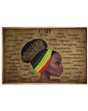 I Am A Black 17x11 Poster front
