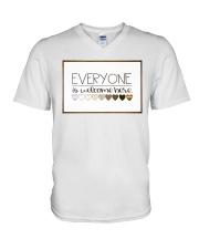 Welcome everyone V-Neck T-Shirt thumbnail