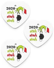 2020 - Christmas - Stink - Stank - Stunk Ornament Heart Ornament (Porcelain) tile