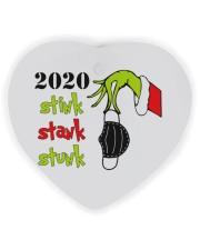 2020 - Christmas - Stink - Stank - Stunk Ornament Heart Ornament (Wood) tile