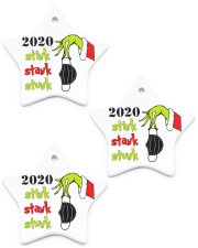 2020 - Christmas - Stink - Stank - Stunk Ornament Star Ornament (Porcelain) tile