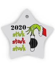 2020 - Christmas - Stink - Stank - Stunk Ornament Star Ornament (Wood) tile