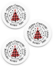 Merry Christmas tree - Ornament Circle ornament - 3 pieces (porcelain) front