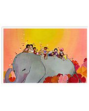 Elephant and Kids 17x11 Poster front