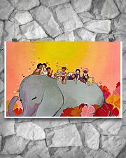 Elephant and Kids 17x11 Poster poster-landscape-17x11-lifestyle-13