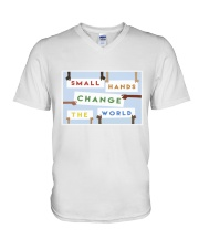Small hands change the world V-Neck T-Shirt thumbnail