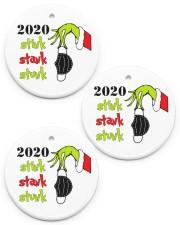 Stink Stank Stunk - Teacher Christmas - Ornament Circle ornament - 3 pieces (porcelain) front