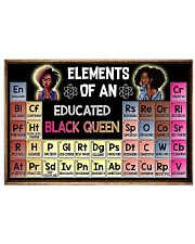 Elements of an Educated Black Queen 17x11 Poster front