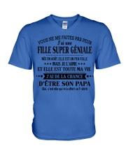 Vous ne me faites pas peur j'ai une fille TINH00 V-Neck T-Shirt thumbnail