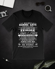 I married a super hot woman w 9 Classic T-Shirt lifestyle-mens-crewneck-front-16