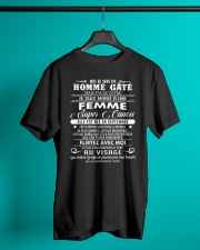 I married a super hot woman w 9 Classic T-Shirt lifestyle-mens-crewneck-front-3