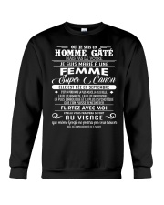 I married a super hot woman w 9 Crewneck Sweatshirt thumbnail