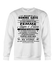 I married a super hot woman-W 11 Crewneck Sweatshirt tile