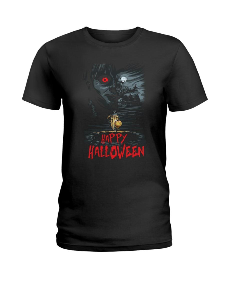Happy Halloween Annabelle Ladies T-Shirt