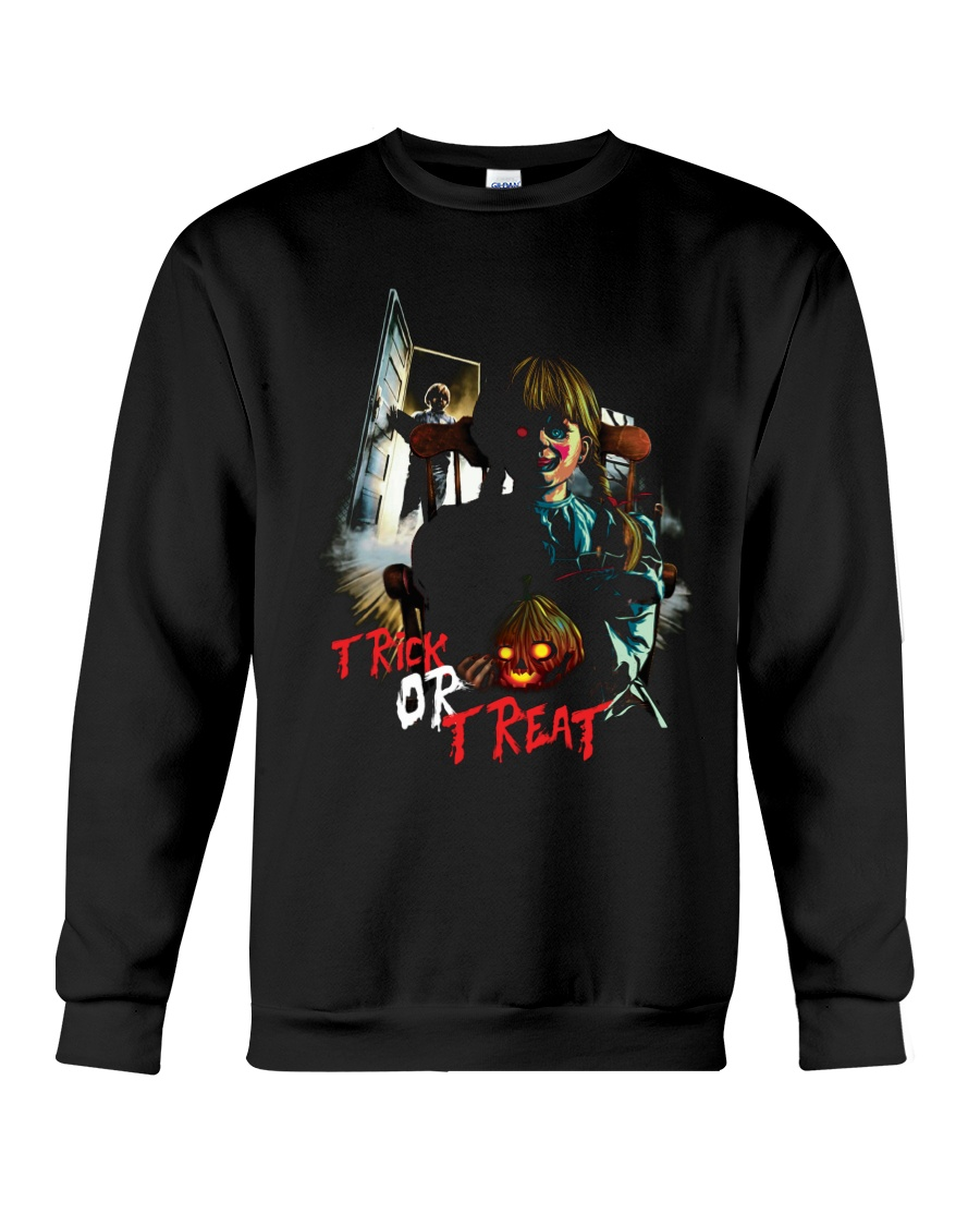 Halloween Annabelle Trick or Treat Crewneck Sweatshirt