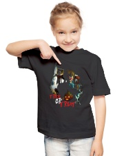 Halloween Annabelle Trick or Treat Youth T-Shirt lifestyle-youth-tshirt-front-2