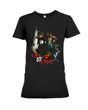 Halloween Annabelle Trick or Treat Premium Fit Ladies Tee tile