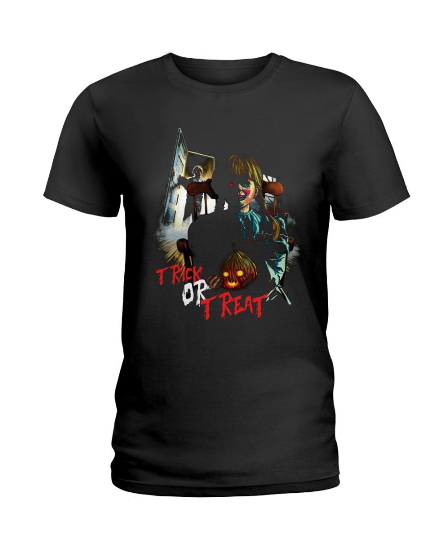 Halloween Annabelle Trick or Treat Ladies T-Shirt